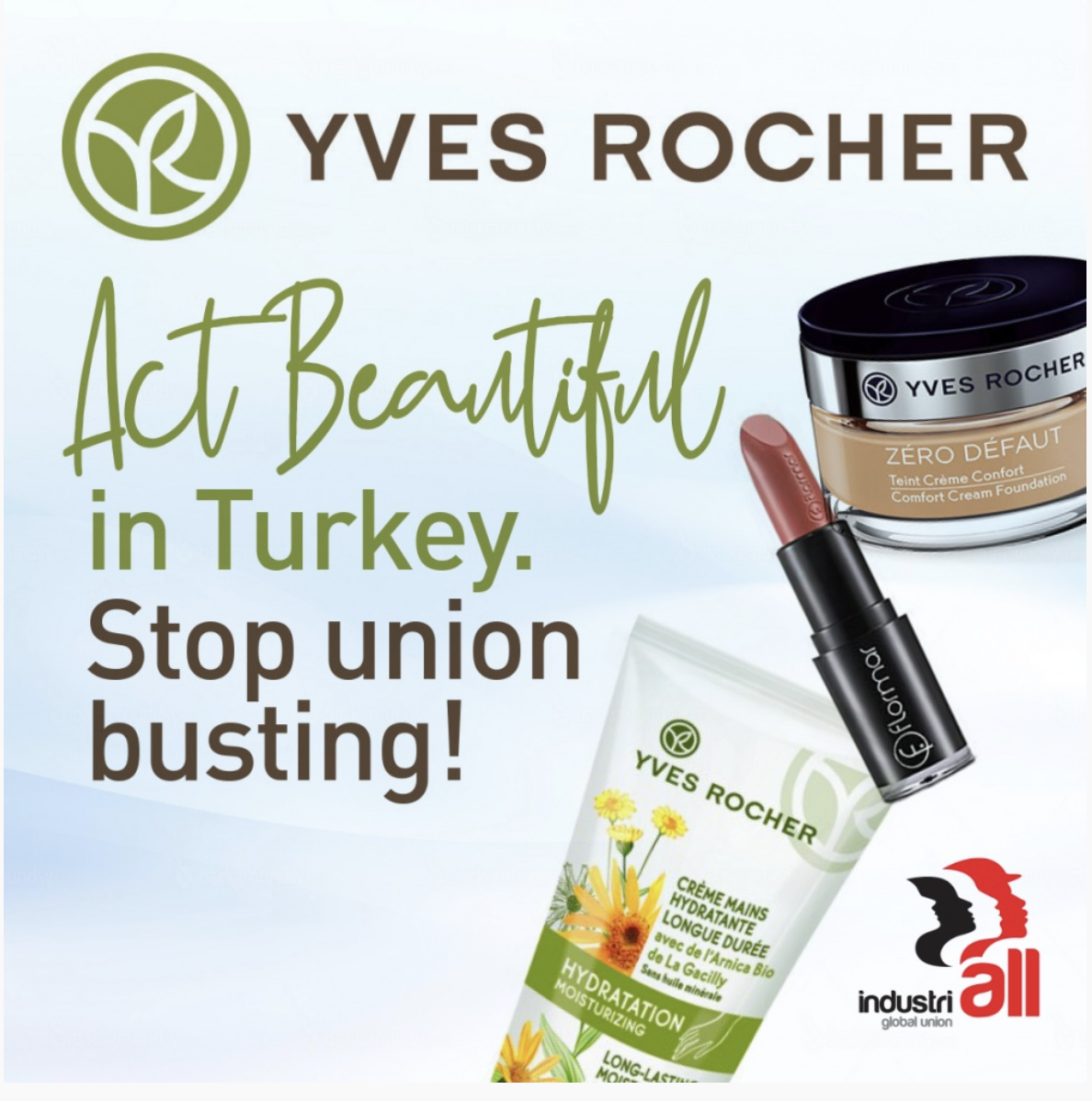 Yves Rocher: Stop union busting in Turkey!